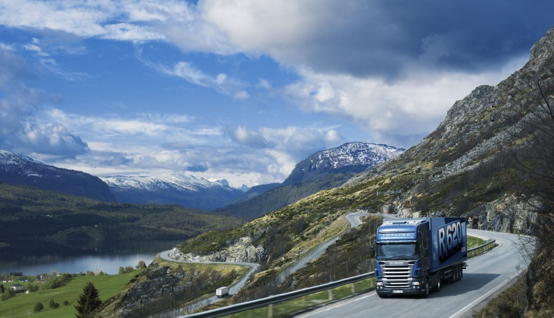 Scania truck in Norway